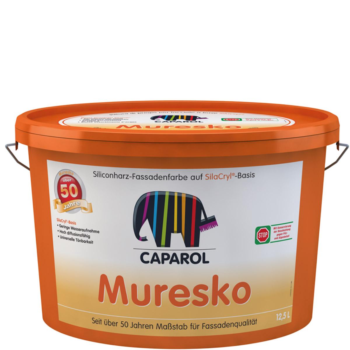 Caparol Muresko SilaCryl 12,5L weiss ,Fassadenfarbe